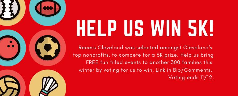 Help Recess Cleveland win 5K!